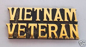 *** VIETNAM VETERAN *** Military Veteran Hat Pin 15206 HO