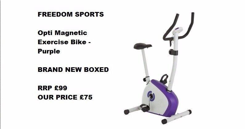 Opti Magnetic Exercise Bike - Purple brand new boxed