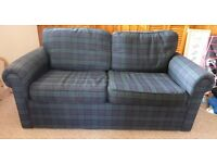 Sofa bed double with metal mechanism