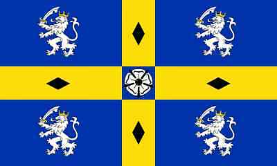 OLD DURHAM COUNTY FLAG 5FT X 3FT WITH TWO METAL EYELETS