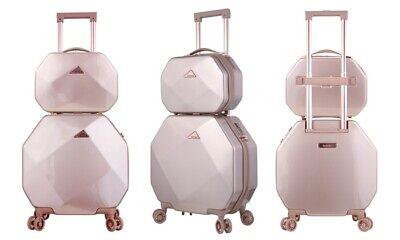Kensie Gemstone Spinner Luggage Set 2 Piece - Rose Gold - $109.49