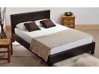 ☀️💚☀️BRAND NEW☀️💚☀️ Double Leather Bed Frame With Orthopaedic Mattress--SAME DAY DROP