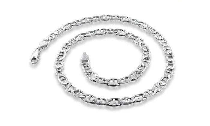 Women's Unisex 925 Sterling Silver Link Chain Bracelet Rope Figaro Cuban Curb Fine Bracelets
