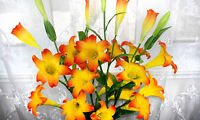 New Artificial Easter Lily Flower/ 5 pcs bunch / 3 Colors