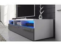 Designer TV Cabinets Units Stand 150cm with led lights