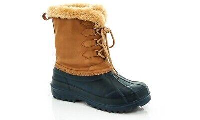 Lady Godiva Sandy Women's Light Weight Duck Snow Boots -Navy/Tan Size -8 - Lady Godiva Boots