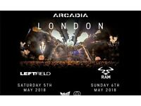 Arcadia London tickets on Saturday 5th May - Elizabeth Park - Can sell separately