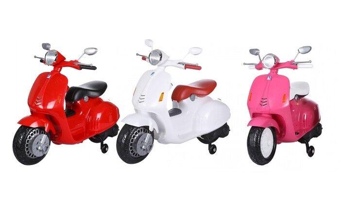 Vespa elettrica 6V per bambini con luci e suoni Vespe elettriche bimbo scooter