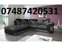 LUXURY BLACK/GREY DINO CORNER SOFA £399