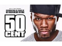 1 x 50 Cent ticket - Friday 21st September, Manchester Arena