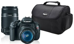 Canon EOS Rebel T3i Dslr Camera (with 2 extra lenses)