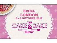 2 ANY DAY tickets for the Cake and Bake Show 5-7 October ExCel £8 each or next best offer