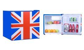 Fridge small fridge Union Jack