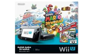 "Wii U 32GB Deluxe ""Super Mario 3D World"" Set"