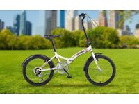 Integra folding bike. Brand new. 6 speed 20 inch.