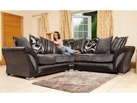 BRAND NEW DFS SHANNON CORNER SOFA CUDDLE CHAIR FREE POUFFE