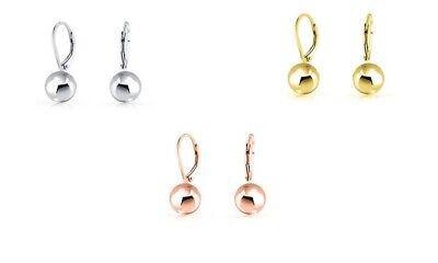 Mini Drop Ball Earrings - Leverback Stud Jewelry - Women's - 1 Pair - OPTIONS Ball Stud Earrings Jewelry