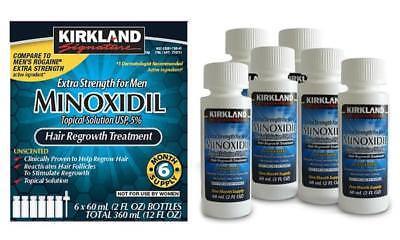 Kirkland Minoxidil 5  Extra Strength Men 6 Month Supply Hair Regrowth