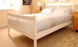 Double (4ft 6) Shaker Bed Frame - White Brand New