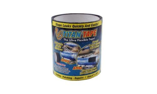 "NEW -  Titan Tape Rubberized Waterproof Tape, Stops Leaks Quickly -  4"" x  5"