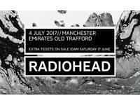 Radiohead 2x standing tickets Emirates Old Trafford