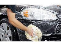 Hand car wash work