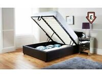 🟡💛FASTEST DELIVERY Leather Ottoman Storage Bed Frame in Black White and Brown Color Option 🟡💛