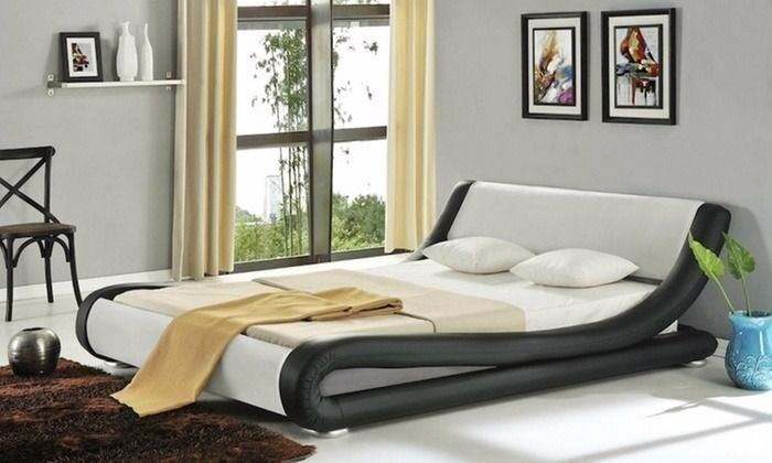 Brandnew Amari Italian Style Leather Bed And Memory Mattress Quick Delivery Also Free