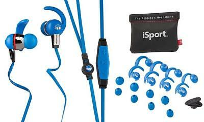 Monster iSport Immersion Wired In Ear Sport Phone Headphones Waterproof Blue, used for sale  Shipping to India