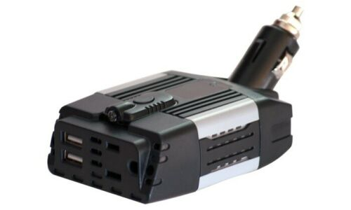 100 Watt Car Power Inverter 12V DC to 110V AC with 2.1A and 1.0A USB Ports.