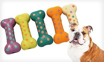 Multipet Latex Polka Dot Bone for Dogs  -      (Free Shippin