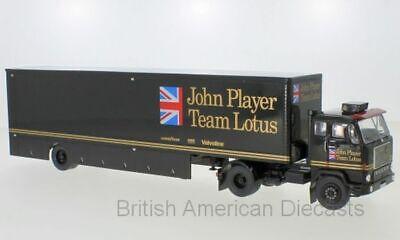 VOLVO F88 RACE TRANSPORTER - JOHN PLAYER TEAM LOTUS IXO TTR017 FREE DELIVERY