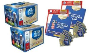 Panini FIFA World Cup Russia 2018 Lot of 100 Packs / 2 boxes