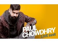 Paul Chowdhry - Live Innit @ Portsmouth Guildhall 19/11/17 Circle Row A *Face Value*