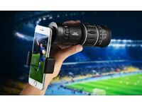 Universal Waterproof Smartphone Telescopic Zoom Lenses with Mount