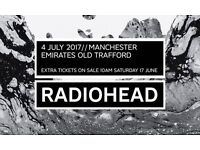Radiohead **FRONT STANDING** Manchester 4th July TICKET