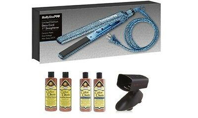 Babyliss Deco 6-Piece Set- 1 flat iron + Iron Stand +2 Shampoos+2 Conditioners