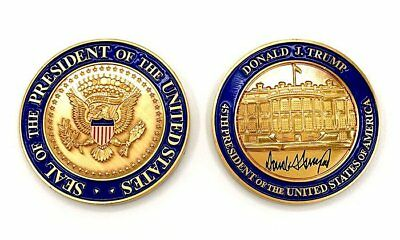 Us President Donald J Trump Coin Challenge Coin White House Potus 45 Medallion