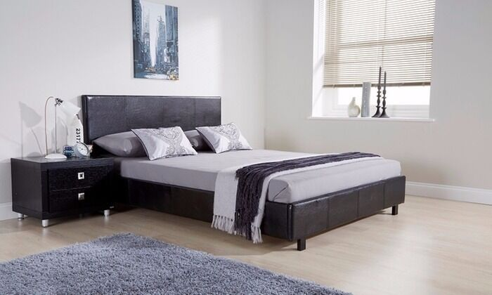 Double (4ft6) Monte Carlo Bed Frame and 4ft6 double mattress for sale
