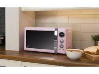 LIMITED OFFER Swan SM22030PN Retro Kitchen 800W Digital Freestanding Microwave Pink