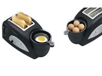 Unused in box: tefal toast n' egg toaster with egg cooker
