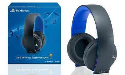 Sony Playstation Gold Wireless Stereo Headset Headphone PS4 (B00HVBPRUO) Used