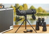 Zennox 3 Piece Optical Set & Aluminium Carry Case Binoculars Monocular Tripod