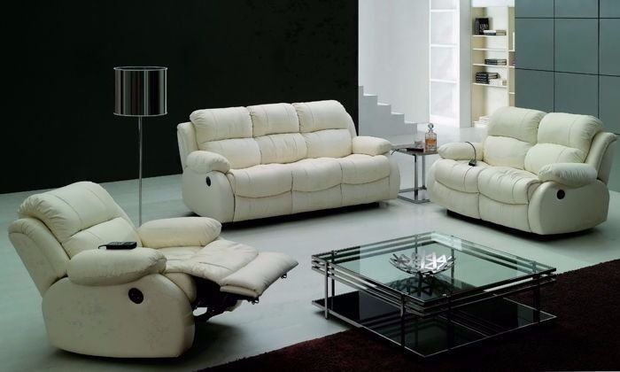 Stylish Best Quality London Leather Bonded Recliner Sofa