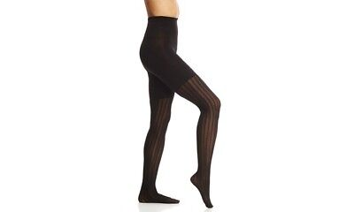 SPANX Assets Red Hot Label Black Tights Textured Three Stripe Mesh Size 5](Red Striped Tights)