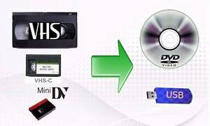 VHS TO DVD , USB and Blue Ray Conversions with best price Blackburn North Whitehorse Area Preview