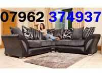 Delivery this week Black and Grey corner seater sofa and chair