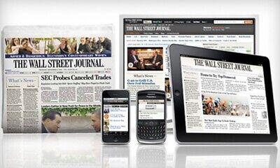 WSJ Wall Street Journal 1 YEAR Print & Digital Subscription 5 DAY START TIME