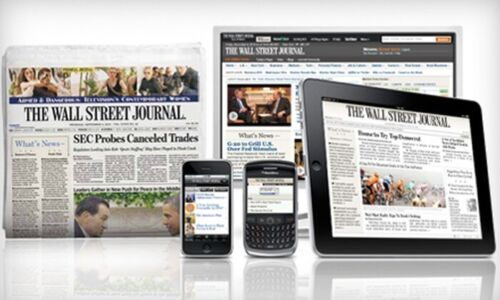 WSJ Wall Street Journal 1 YEAR Print & Digital Subscription 5 DAY START TIME