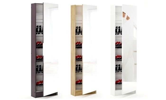 Mirrored Shoe Cabinet - Used - holds 30 pairs of shoes £99 new